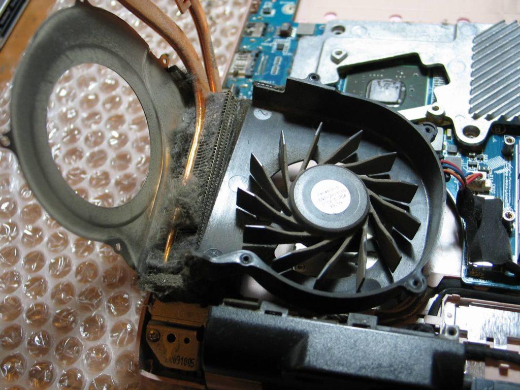 kurz w wentylatorze uszkodził laptopa