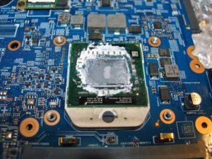 dwie pasty termoprzewodzące spowodowały przegrzanie procesora niezbedna naprawa laptopa